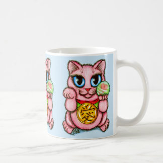 LIEBE Maneki Neko viel Glück-Katzen-niedliche Tasse