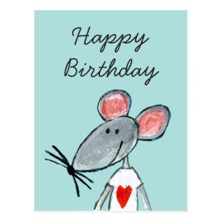 Liebe-Maus Postkarte