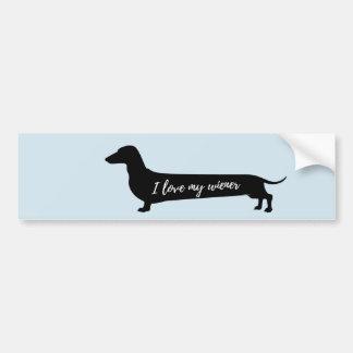 Liebe mein DackelhundeAutoaufkleber Autoaufkleber
