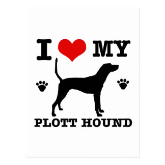 Liebe mein plott Jagdhund Postkarte