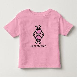 Liebe mein Zwilling Kleinkind T-shirt