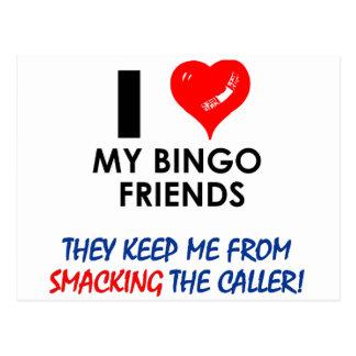 Liebe meine Bingo-Freunde! Postkarte