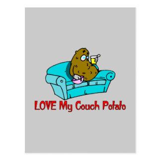 Liebe meine Couch-Kartoffel Postkarte