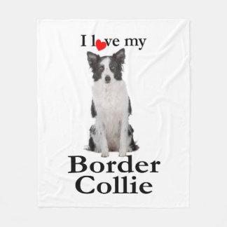 Liebe meine Grenzcollie-Fleece-Decke Fleecedecke