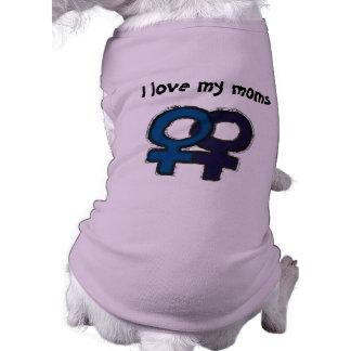 Liebe meine Mammen Ärmelfreies Hunde-Shirt