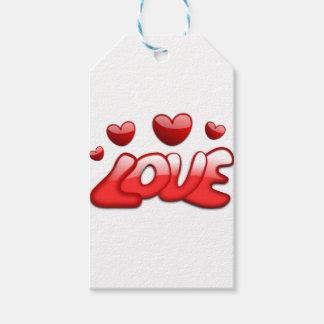 Liebe mit Herzen Geschenkanhänger
