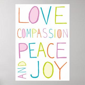 Liebe, Mitleid, Frieden, Freude Poster