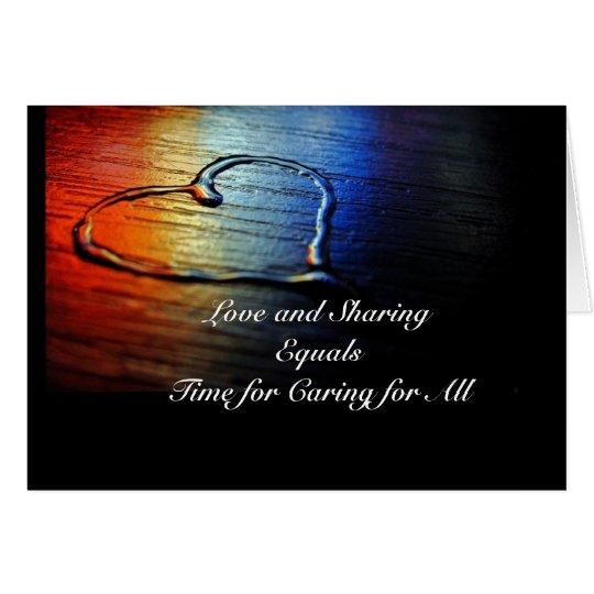 Liebe Mitteilungskarte