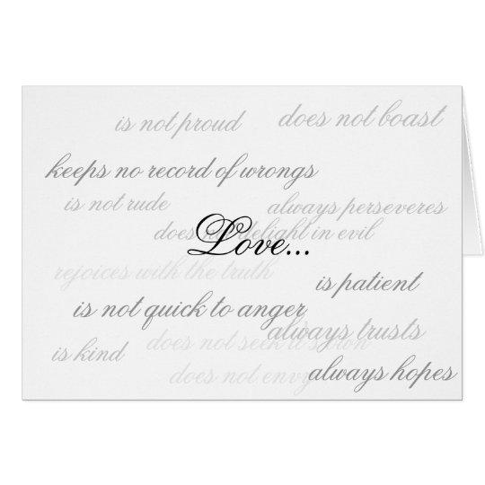 Liebe… Mitteilungskarte