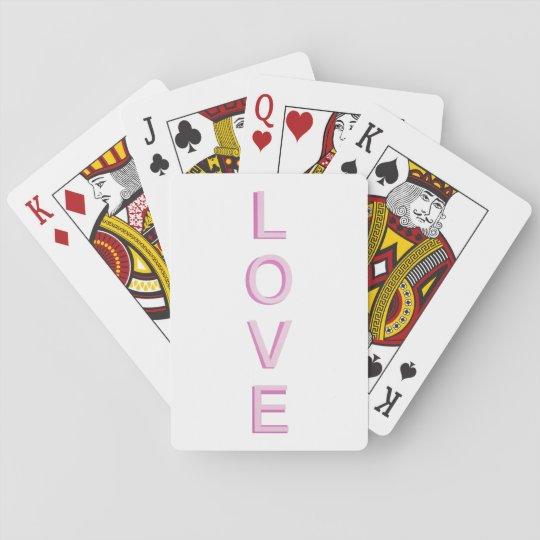 Liebe-modernes Rosa Spielkarten