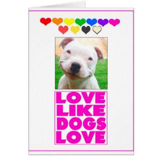Liebe mögen HundeLiebe Karte