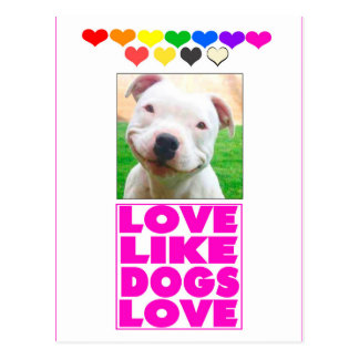 Liebe mögen HundeLiebe Postkarte