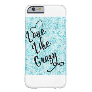 Liebe mögen verrückten blauen Spitze iPhone 6/6s Barely There iPhone 6 Hülle