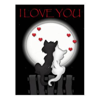 Liebe-Mond Postkarte