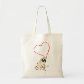 Liebe-Mops-Taschen-Tasche - kundengerecht Tragetasche