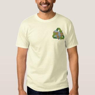 Liebe-Mutter-Erde Besticktes T-Shirt