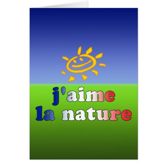 Liebe-Natur der J'aime La-Natur-I auf französisch Karte