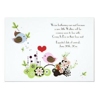 Liebe-Nest-Schwangerschafts-Mitteilung 12,7 X 17,8 Cm Einladungskarte