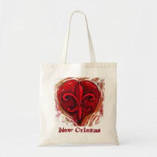 Liebe-New- Orleanstasche Budget Stoffbeutel