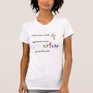 Liebe nur eine, Christentum T-Shirt