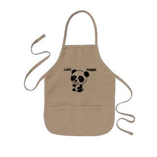 Liebe-Panda scherzt Schürze