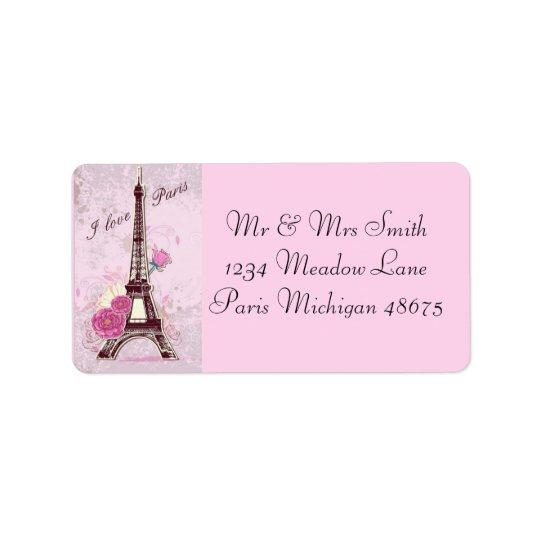 Liebe Paris der Adressen-Labels/I Adressaufkleber