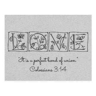 Liebe-perfekte Bindung von Union~Scripture~RSVP Postkarte