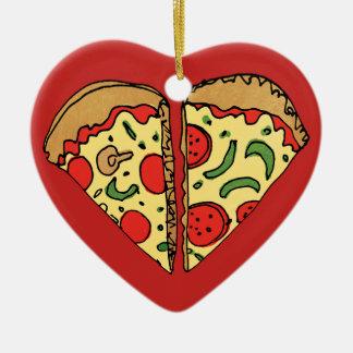 Liebe-Pizza addieren Namen Keramik Ornament