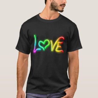 Liebe-psychedelischer Neonlicht-T - Shirt