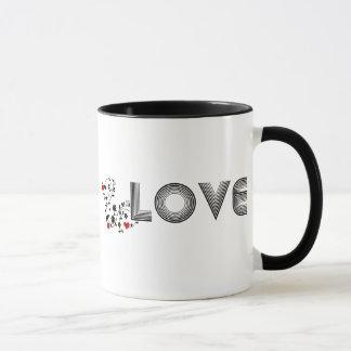 LIEBE Rebe mit der Herz-Tasse Tasse
