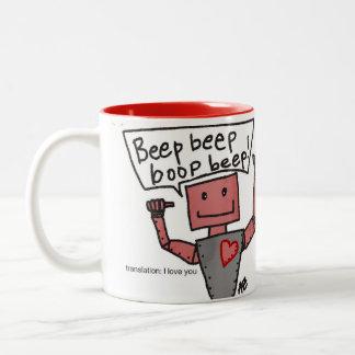 Liebe-Roboter-Tasse Zweifarbige Tasse