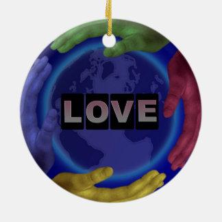 Liebe-runde Verzierung Keramik Ornament