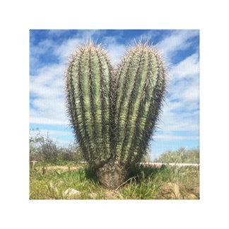 Liebe Saguaro-Leinwand Leinwanddruck