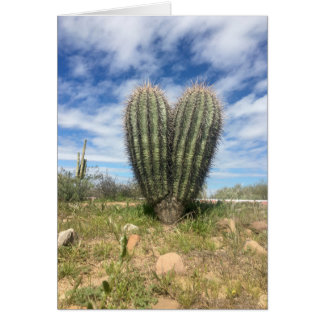 Liebe Saguaro notecard Karte
