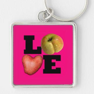 LIEBE Sammlung in rosa Keychain Schlüsselanhänger