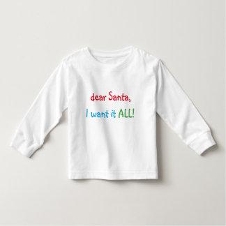 Liebe Sankt will ich sie aller   lustige Kleinkind T-shirt
