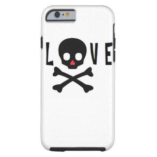 Liebe-Schädel und Knochen Tough iPhone 6 Hülle