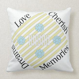 Liebe, schätzen, Träume, Erinnerungenthrow-Kissen Kissen
