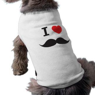 Liebe-Schnurrbart Ärmelfreies Hunde-Shirt