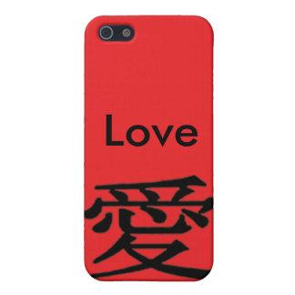 Liebe schwarze iPhone 4 Rot-Liebe-chinesisches iPhone 5 Case