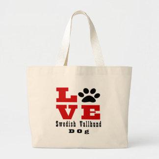 Liebe-Schwede Vallhund Hund Designes Jumbo Stoffbeutel