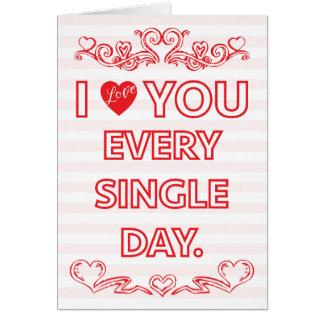 Liebe Sie die Karte jeden Tagi valentines