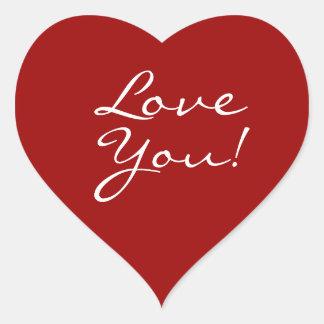 Liebe Sie Herz Herz-Aufkleber
