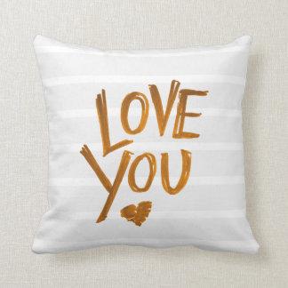 Liebe Sie Herzkissen mit Streifen Kissen