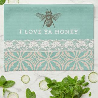 Liebe Sie Honig-Vintages Küchen-Tuch Küchentuch