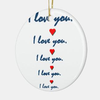 Liebe Sie Keramik Ornament