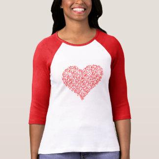 Liebe Sie roter Raglan-T - Shirtvalentine-Tag T-Shirt