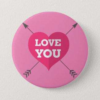 Liebe Sie Runder Button 7,6 Cm