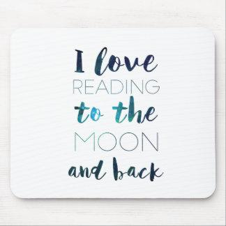Liebe Sie zum Mond Mousepad