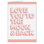Liebe Sie zum Mond u. zur Rückseite Grußkarte